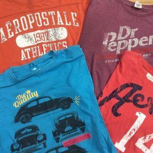 Bundle of Four Men's t-shirts. Read Description...